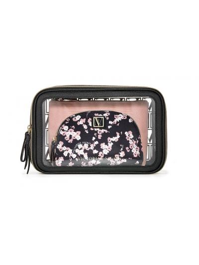 Косметичка 3 в 1 Victoria's Secret Beauty Bag Trio, Flowers