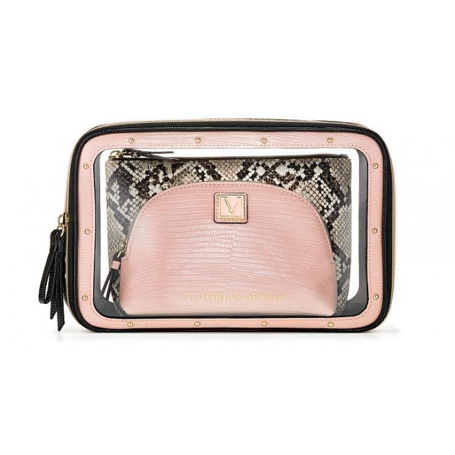 Косметичка 3 в 1 Victoria's Secret Beauty Bag Trio, Peach