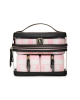 Косметичка 4-в-1 Victoria's Secret Beauty Bag, Pink Stripe