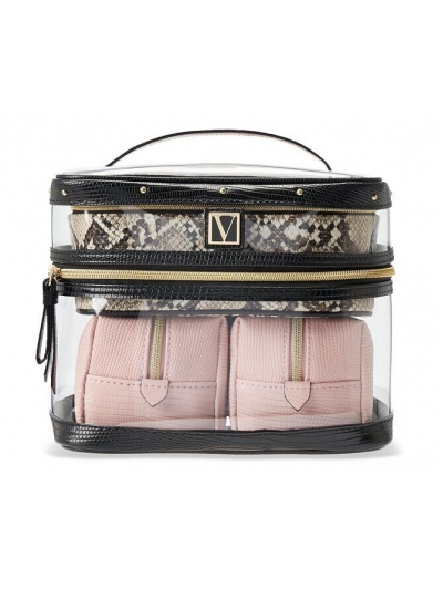 Косметичка 4-в-1 Victoria's Secret Beauty Bag, Peach Piton