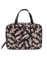 Дорожная косметичка кейс Victoria's Secret Travel Case, Black Floral