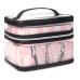 Косметичка 4-в-1 Victoria's Secret Beauty Bag, Pink Stripe Logo