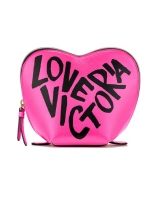 Косметичка Victoria's Secret Glitter Mesh Heart Beauty Bag