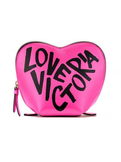 Косметичка Victoria's Secret Glitter Mesh Heart Beauty Bag