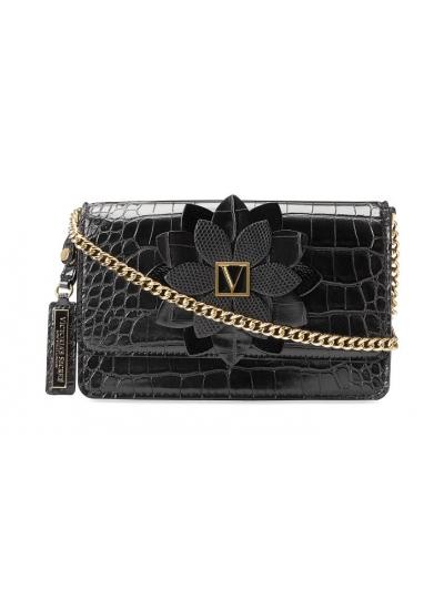 Сумочка кроссбоди Victoria's Secret The Victoria Medium Shoulder Bag Black Piton
