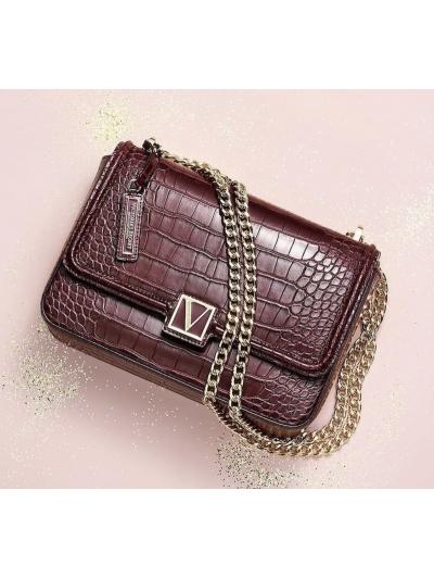Сумочка кроссбоди Victoria's Secret The Victoria Medium Shoulder Bag, Brown Python
