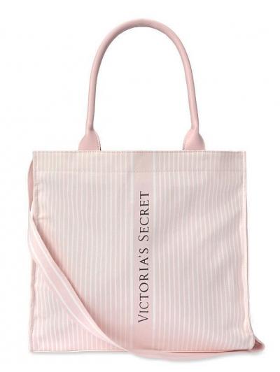 Пляжная Сумка в полосочку Victoria's Secret Stripe Pink Tote