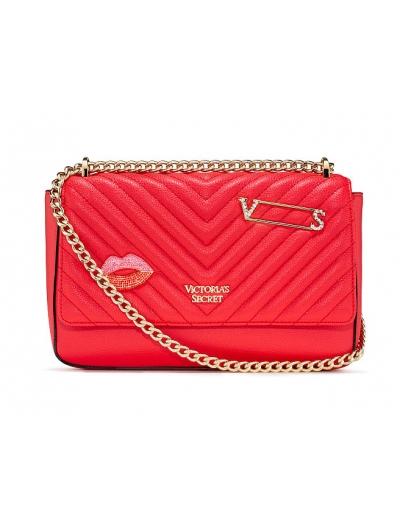 Сумочка Embellished V-Quilt Shoulder Bag