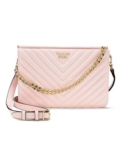 Сумочка Victoria's Secret Pebbled V-Quilt Crossbody, Pink