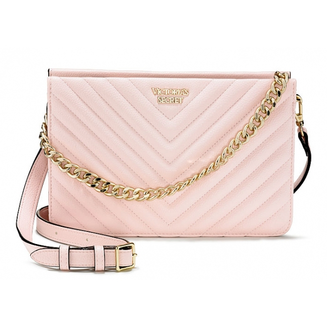 Сумка Кроссбоди Victoria's Secret Pebbled V-Quilt Crossbody, Pink