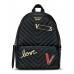 Рюкзак Victoria's Secret Pebbled V-Quilt Small City Backpack, Ribbed Black