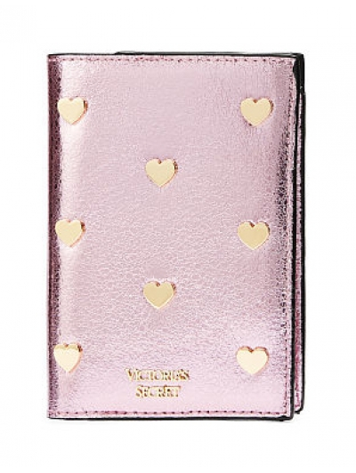 Обложка для Паспорта Victoria's Secret Pop Heart Metallic Passport Cover