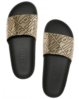 Шлёпанцы / Сланцы STRAP SLIDE от Victoria's Secret PINK golden