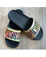 Пляжные сланцы STRAP SLIDE от Victoria's Secret PINK хамелеон