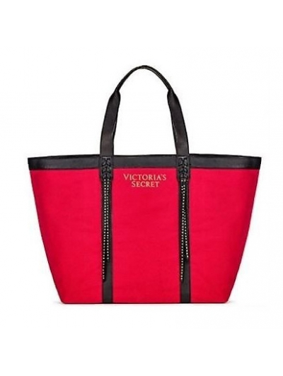 Сумка Victoria's Secret Fringe Tote Bag Red