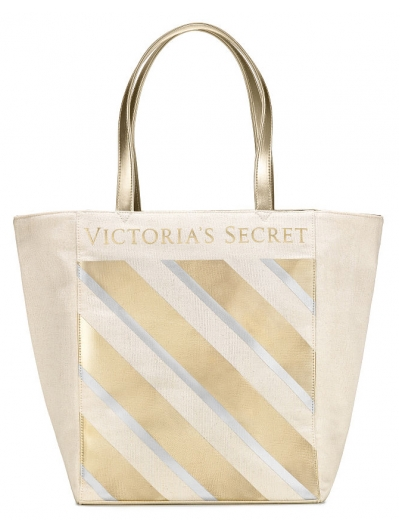 Сумка Victoria's Secret Metallic Striped Tote