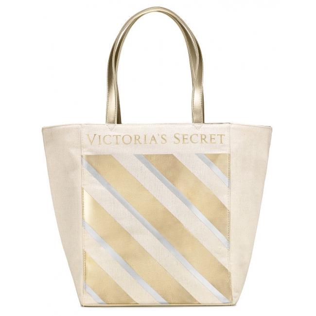 Сумка Victoria's Secret Metallic Striped Tote