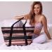 Сумка c блестящими полосками Victoria's Secret Sparkle Tote