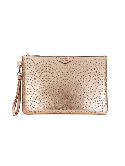 Косметичка-клатч из коллекции Victoria's Secret Laser Cut Rose Gold Beauty Pouch