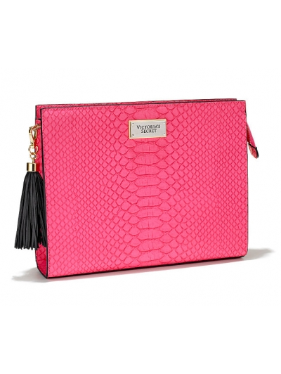 Клатч Victoria's Secret Oversized Clutch. Bright Pink Python