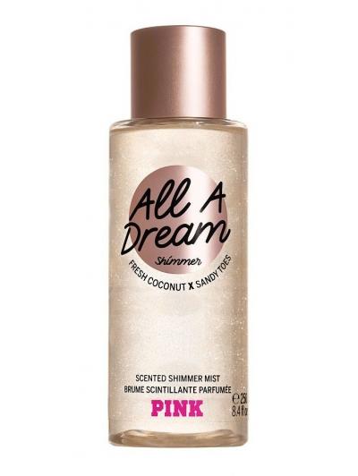 Спрей с Блестками Victoria's Secret Pink All A Dream Shimmer Body Mist