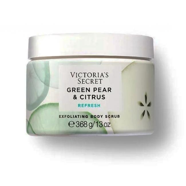Скраб для тела Тела Victoria s Secret Green Pear & Citrus REFRESH Exfoliating Body Scrub, 368g