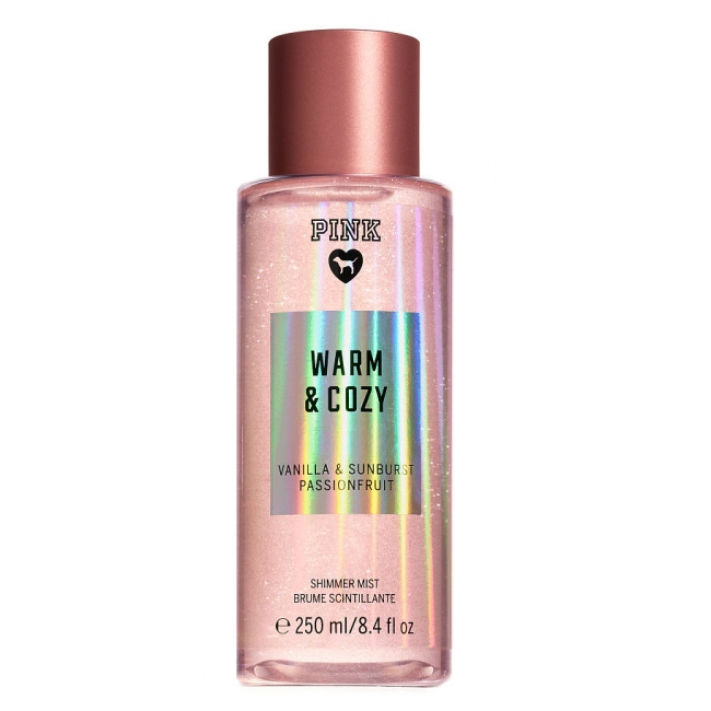 Спрей с Блестками Victoria's Secret Pink Warm And Cozy Shimmer Body Mist