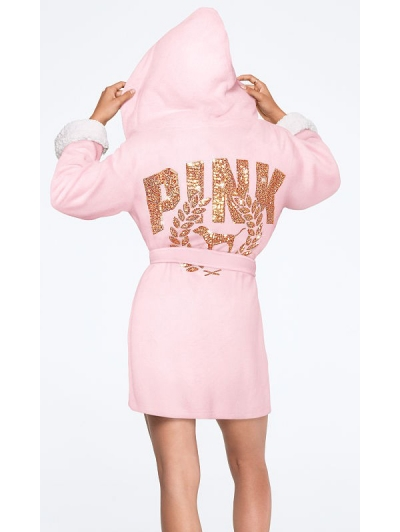 Халат Victoria's Secret Pink Bling Sherpa Lined Robe