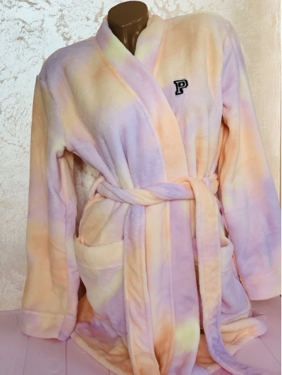 Халат Виктория Сикрет PINK Plush Short Cozy Robe