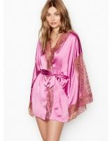 Атласный Халат-Кимоно Victoria's Secret с кружевными вставками