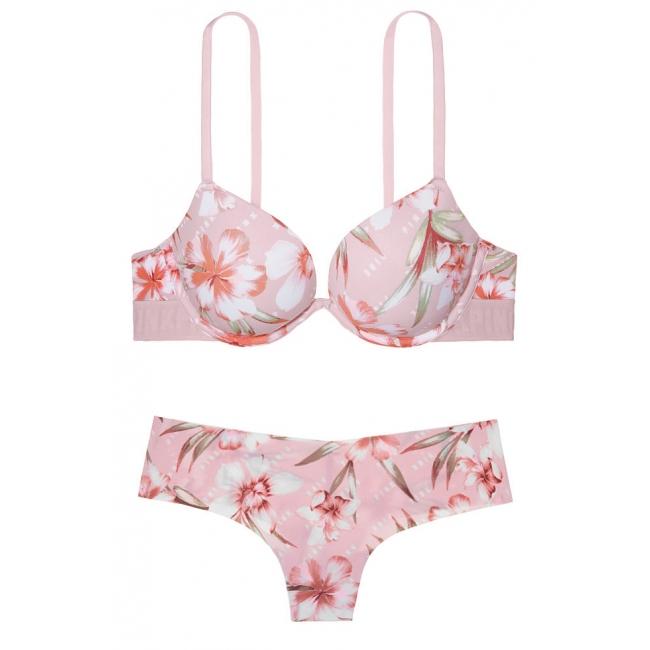 Комплект Victoria's Secret PINK Wear Everywhere  Push-Up Bra & Thong
