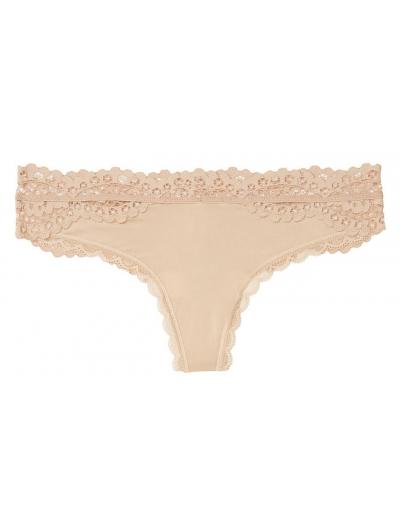 ТРУСИКИ С АЖУРНЫМИ ВСТАВКАМИ ОТ VICTORIA'S SECRET Lace-back Thong Panty