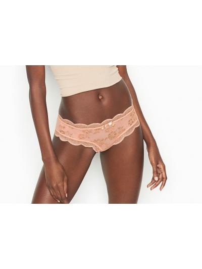 Кружевные трусики Scalloped Lace Hipster Thong Panty