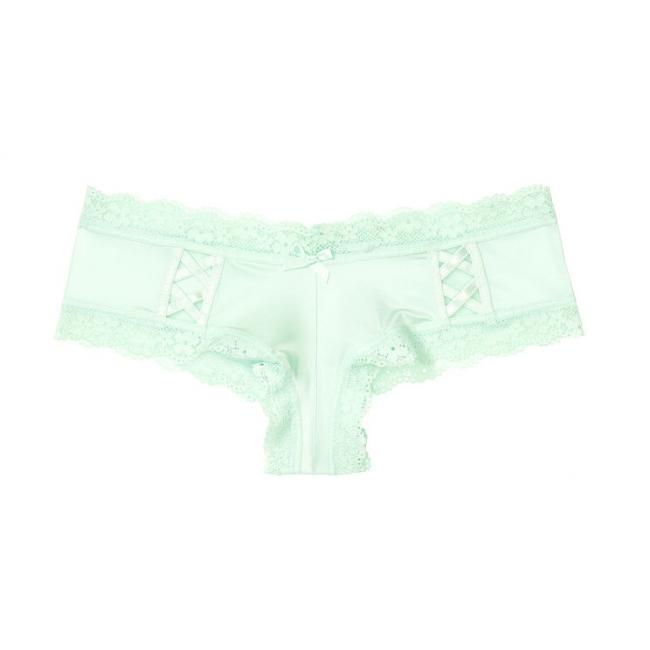 ТРУСИКИ С АЖУРНЫМИ ВСТАВКАМИ ОТ VICTORIA'S SECRET Lace-up Cheeky Panty