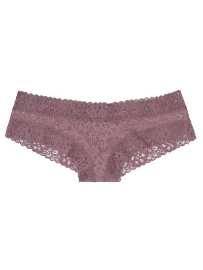 Кружевные Трусики Чики Victoria's Secret Floral Lace Cheeky Panty, Purple Goddess