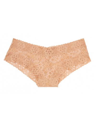 Кружевные Трусики Чики Victoria's Secret Floral Lace Cheeky Panty, Evening Blush