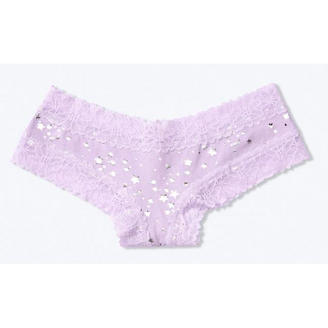 Трусики чики с ажурными вставками нежно-фиолетовый цвет Виктория Сикрет
