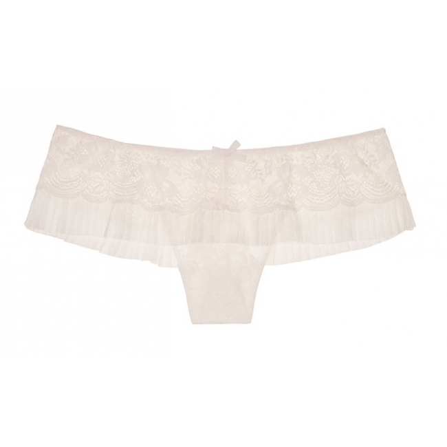 Кружевные трусики Tulle & Lace Hipster Thong Panty