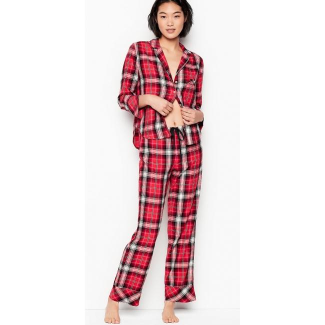 Пижамка Victoria's Secret Flannel PJ Set
