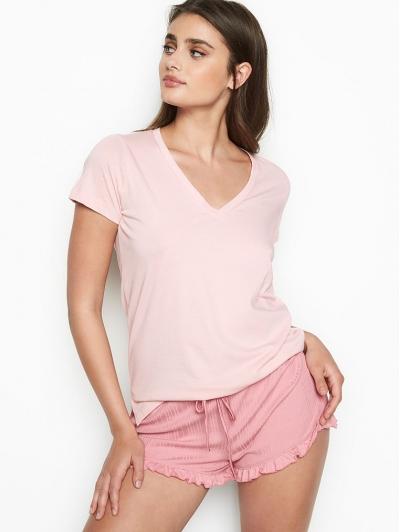 Пижама Victoria's Secret Cotton Cami Set, Pink