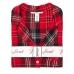 Пижама Victoria's Secret Cotton Printed Flannel Long PJ Set, Красная в клетку