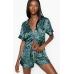 Атласная Пижама Victoria's Secret Satin Short PJ Set, Dark Leopard Print
