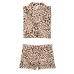 Атласная Пижама Victoria's Secret Satin Short PJ Set, Brown Leopard Print