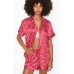 Атласная Пижама Victoria's Secret Satin Short PJ Set, Red Hard