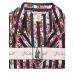 Атласная Пижама Victoria's Secret Satin Short PJ Set, Stripe and Flowers