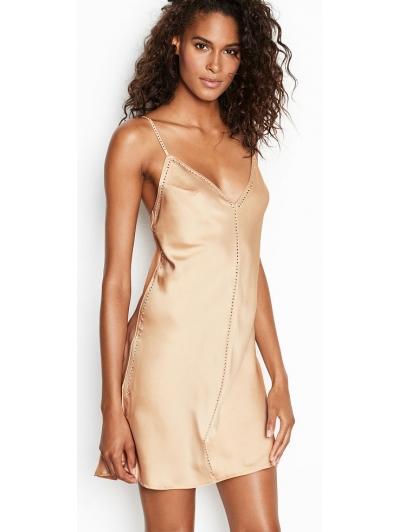 Ночнушка Victoria's Secret Satin & Rhinestone Slip