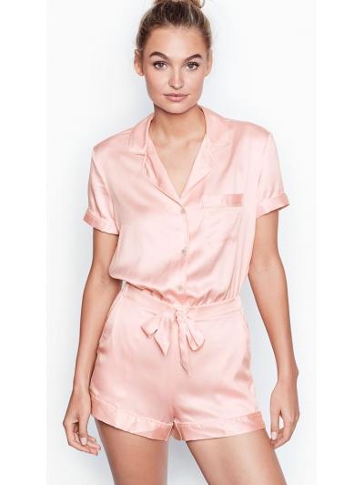 Ромпер Victoria's Secret  Satin Button-front Romper