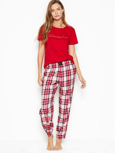 Пижама Victoria's Secret The Lounge PJ, Red Check