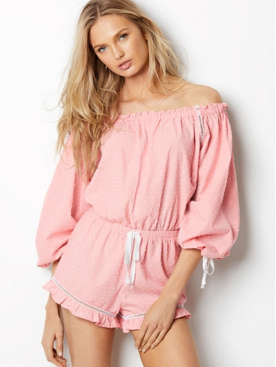 Ромпер Victoria's Secret  Lightweight Off-the-shoulder Romper