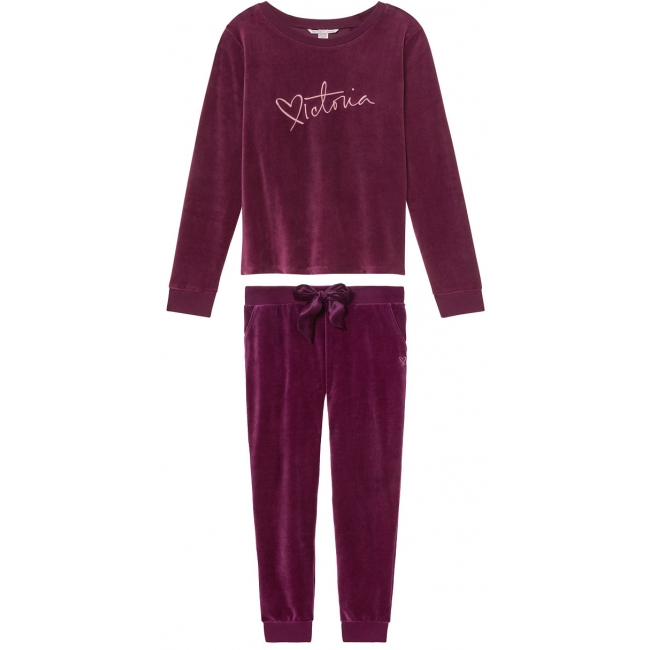Велюровый костюм Victoria's Secret  Velour Crossback Pullover&Velour Jogger